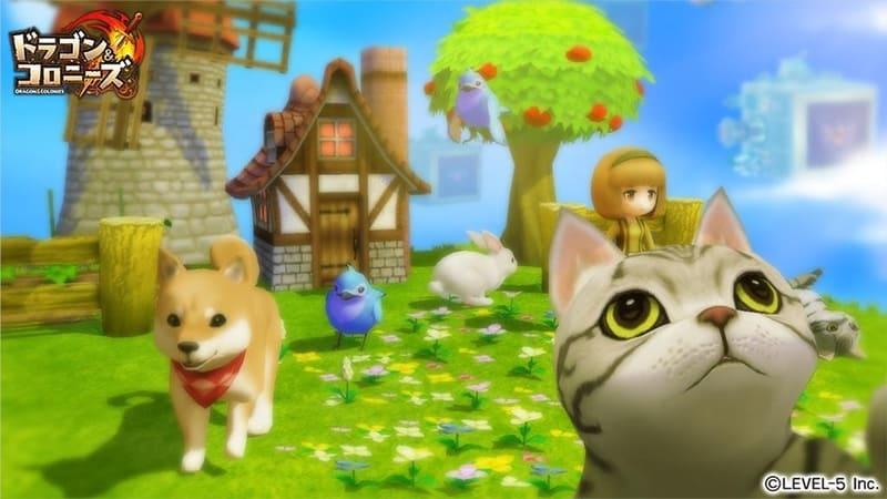 ドラコロの犬と猫と村娘