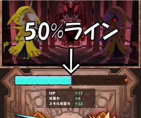ドラコロ(ドラゴン&コロニーズ)の龍神覚醒50%ライン