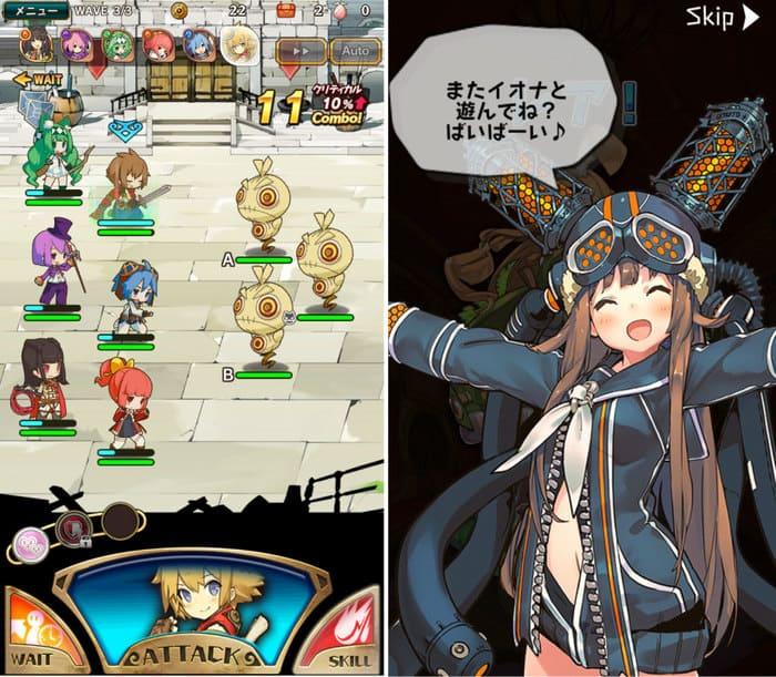 ラスピリの戦闘画面