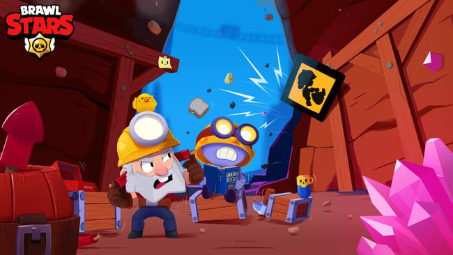 ブロスタののダイナマイクとカールが鉱山を掘っている